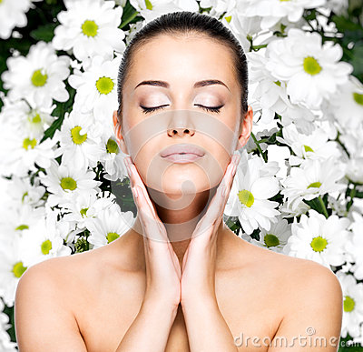 Free Woman With Healthy Skin Of Face Stock Image - 34019431