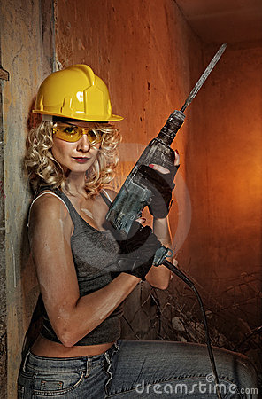 Free Woman With Heavy Perforator Royalty Free Stock Photo - 10634655