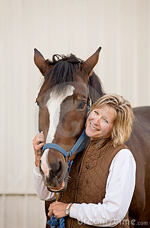 Free Woman With Her Horse Royalty Free Stock Photos - 8885838