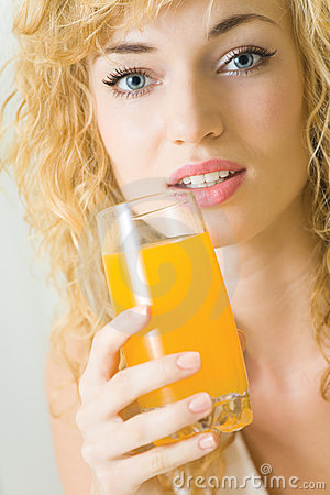 Free Woman With Juice Stock Images - 11073474