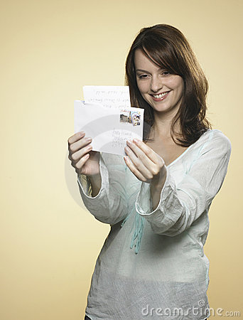 Free Woman With Letter 01 Stock Photos - 8219733