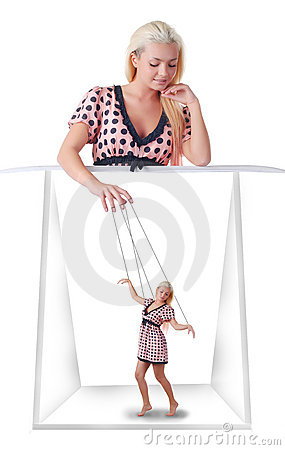 Free Woman With Little Marionette Stock Photos - 7545853