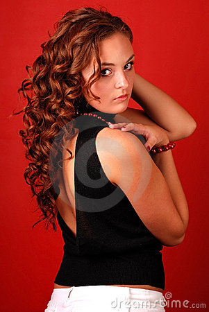 Free Woman With Long Curly Hair Stock Photography - 5031072