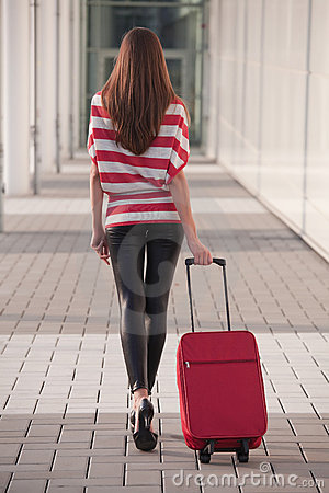 Free Woman With Luggage Royalty Free Stock Photos - 10872508