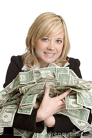 Free Woman With Money Royalty Free Stock Photo - 3779325