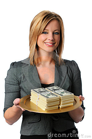 Free Woman With Money Royalty Free Stock Photo - 4297865