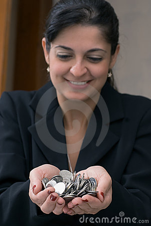 Free Woman With Money Stock Photo - 5094210