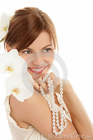Free Woman With Pearls Royalty Free Stock Image - 13243686
