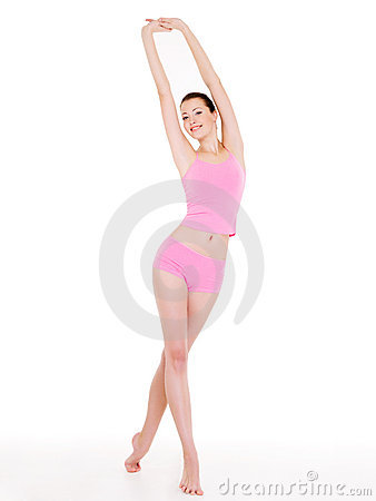 Free Woman With Perfect Slim Beautiful Body Royalty Free Stock Images - 12239649