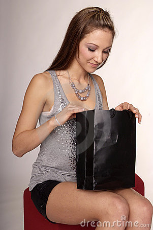 Free Woman With Purchase Bag Royalty Free Stock Photo - 4778725