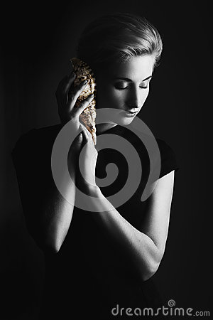 Free Woman With Seashell Stock Photo - 50636710