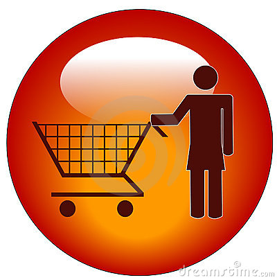 Free Woman With Shopping Cart Stock Photography - 5437772