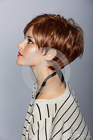 Free Woman With Short Red Hair Royalty Free Stock Photography - 25122577