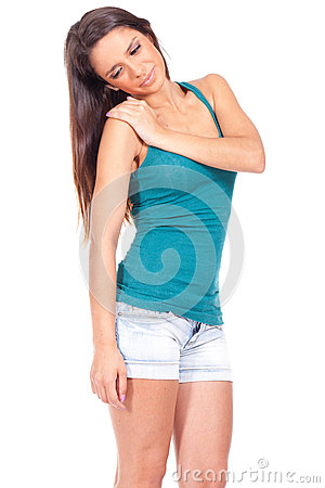 Free Woman With Shoulder Pain Stock Image - 25995831