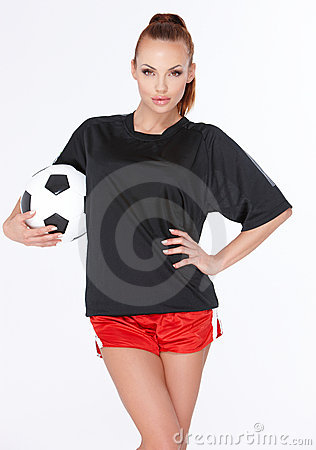 Free Woman With Soccer Ball Stock Photos - 20407303