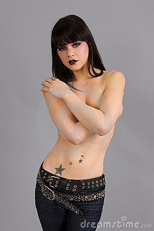 Free Woman With Tattoo Royalty Free Stock Images - 9608159