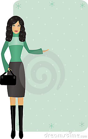 Free Woman With Winter Offer Stock Images - 11934014