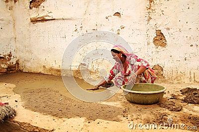 Woman working Editorial Stock Photo