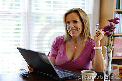 Woman working at Home Business