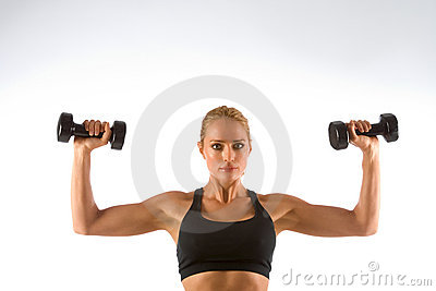 Woman Working-out lifting