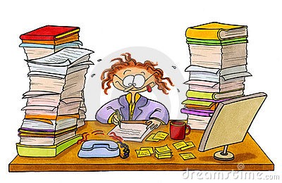woman working overhours stock photo image 5907760