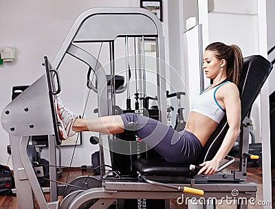 Woman working quads