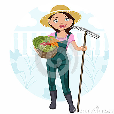Woman working in the vegetable garden
