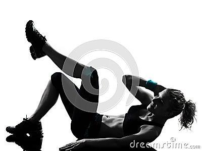 Woman workout fitness posture abdominals push ups