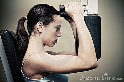 Woman Workout In Gym Stock Photos - Image: 7831263