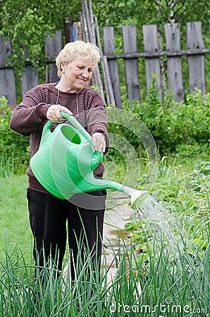 Free Woman Works On A Kitchen Garden Royalty Free Stock Photo - 20561505