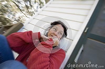 Woman worrying