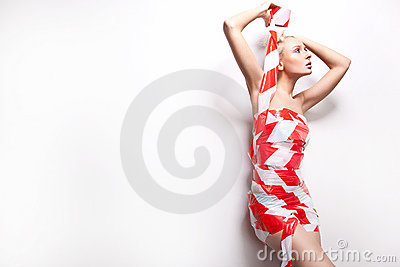 woman wrapped