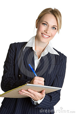 Free Woman Writing Notes Stock Photos - 9208023