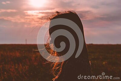 Woman's Silhouette Photo During Sunset Free Public Domain Cc0 Image