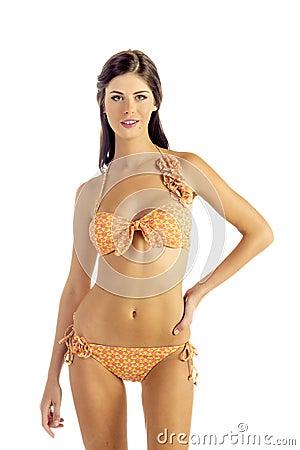 Woman in Yellow Bikini