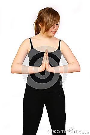 man is making yoga royalty free stock photography image