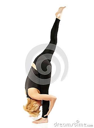 Free Woman Yogi In Yoga Pose Stock Images - 33687564