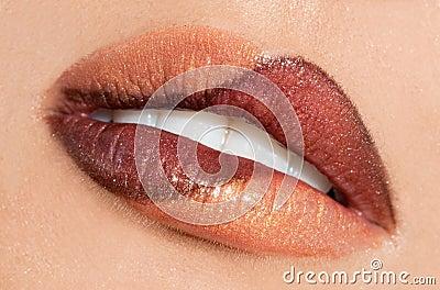 Womanish lips