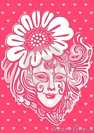Womanish mask