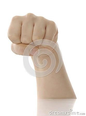 Womans fist