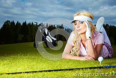 Womans golf