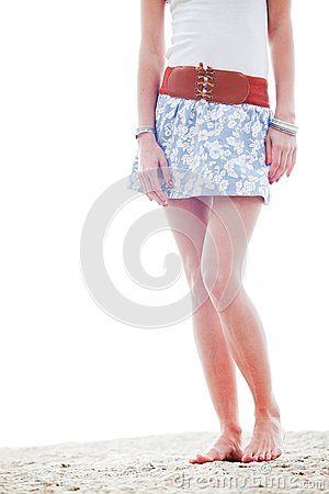 Free Womans Legs At The Beach Royalty Free Stock Images - 26300279