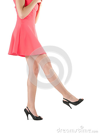 Free Womans Long Legs In Dress And High Heels Stock Images - 31413504