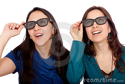 Women with 3D glasses