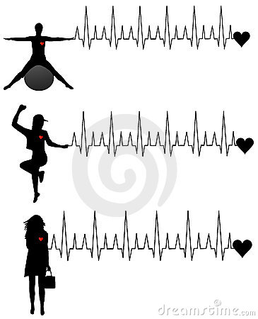 Free Women And Cardiogram Stock Image - 14347051