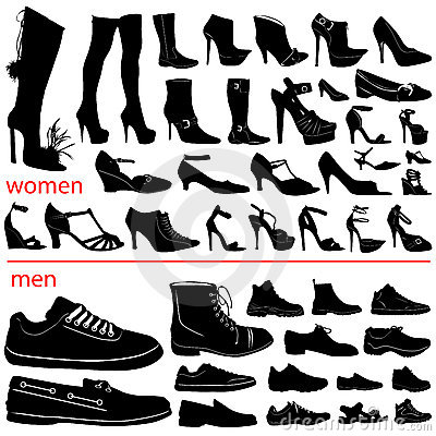 Free Women And Men Shoes Vector Stock Photography - 3930912