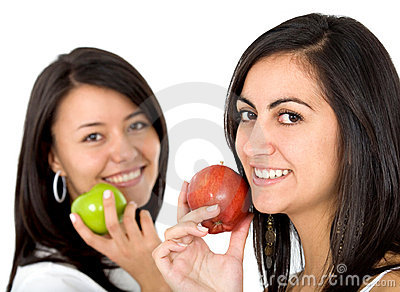 Women with apples