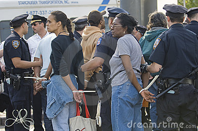 Women arrested Editorial Stock Image