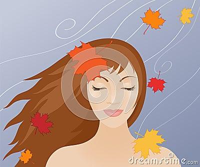 Women in autumn