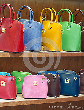 Women bags shop Editorial Stock Image